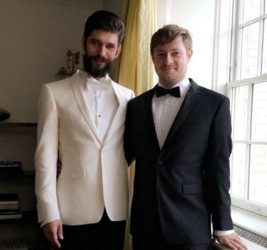 Ben Whishaw husband Mark Bradshaw together