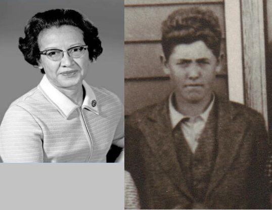 Katherine Johnson with husband James Francis