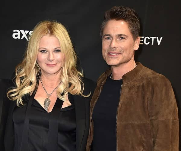 Sheryl Berkoff with attractive, Husband Rob Lowe