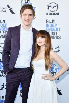 Bo Burnham with his girlfriend Lorene Scafaria  in the film fair