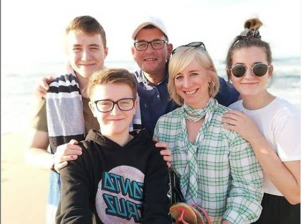Daniel Andrews with his family for trip