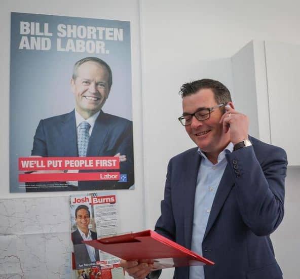 Daniel Andrews at his office work