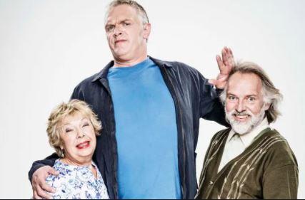Greg Davies with his parents
