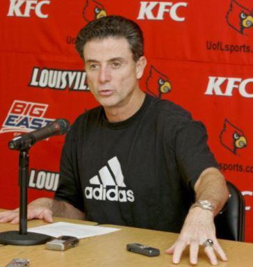 Rick Pitino speaking at the KFC