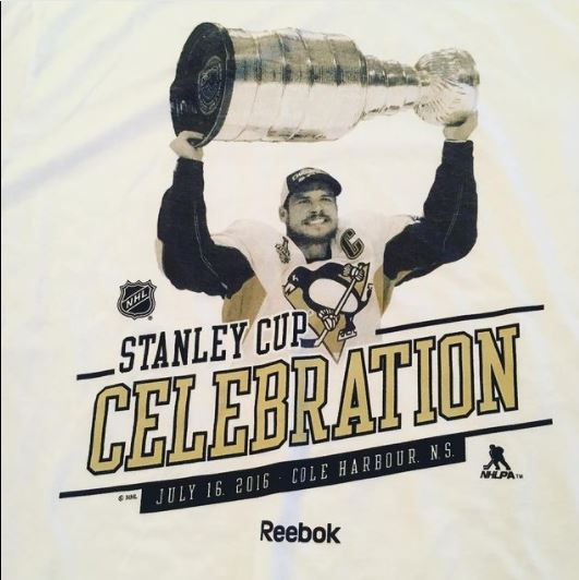 Sidney Crosby as Stanley cup celebration