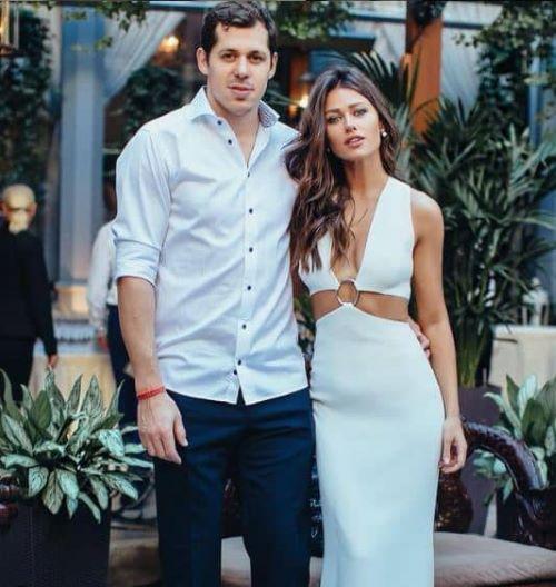 Evgeni Malkin with his wife