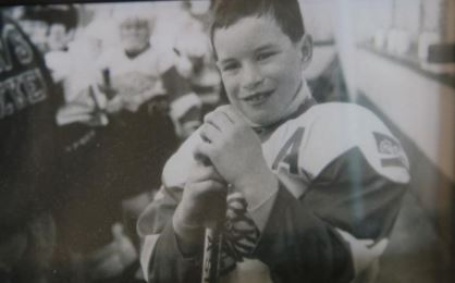 Sidney Crosby early photo when he started his career as hockey player