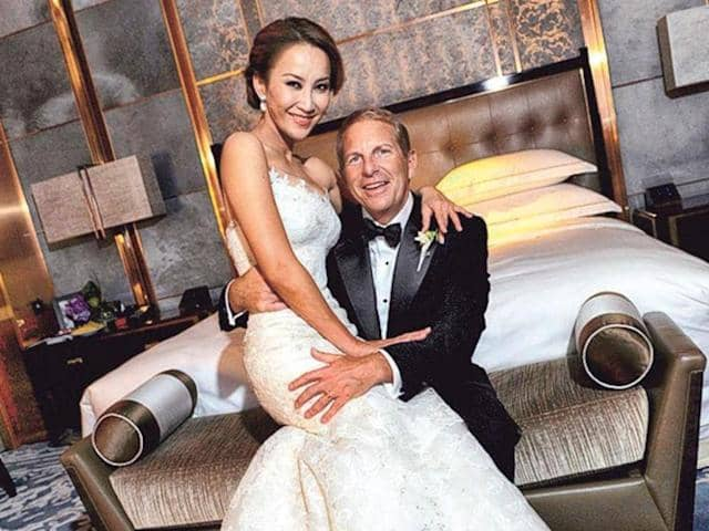 Coco Lee with her husband
