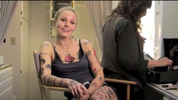 Kristen Bell tattoos